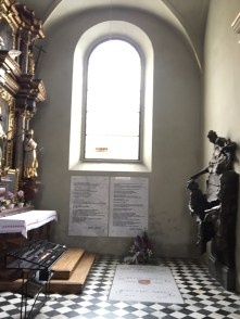 The side chapel containing Green's grave