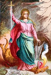 Saint Margaret Of Antioch Virgin And Martyr