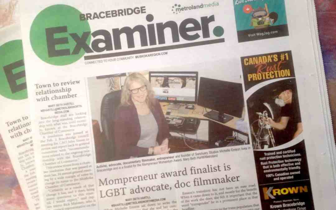 Muskoka Entrepreneur & Mompreneur™ award finalist is LGBT advocate