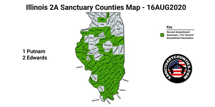 Illinois 2A Sanctuary Counties Map
