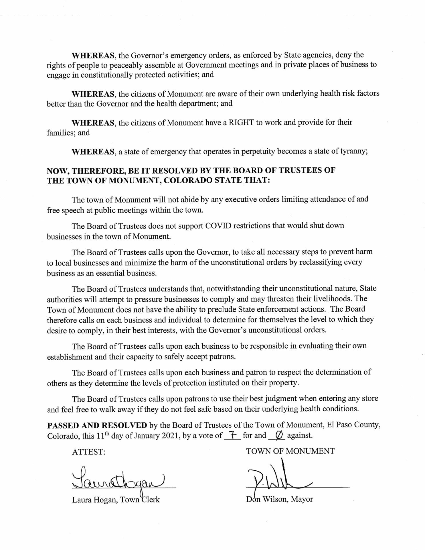 Resolution No. 08-2021 - condemning unconstitutional limitations pg 2