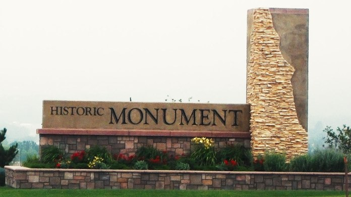 Picture of a monument in the town of monument