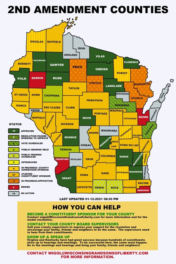 Wisconsin 2A Sanctuary Map