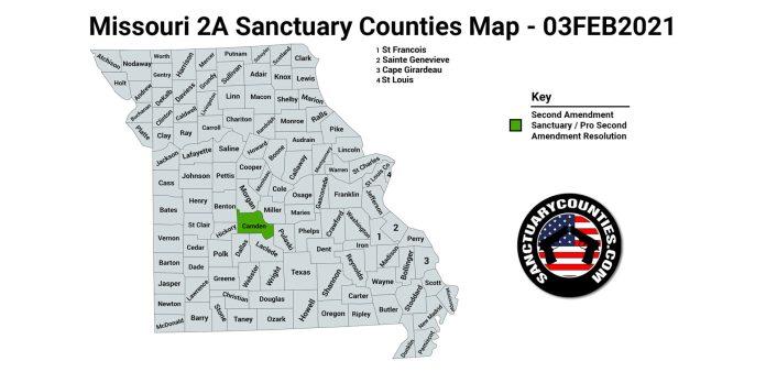 Missouri Second Amendment Sanctuary Map