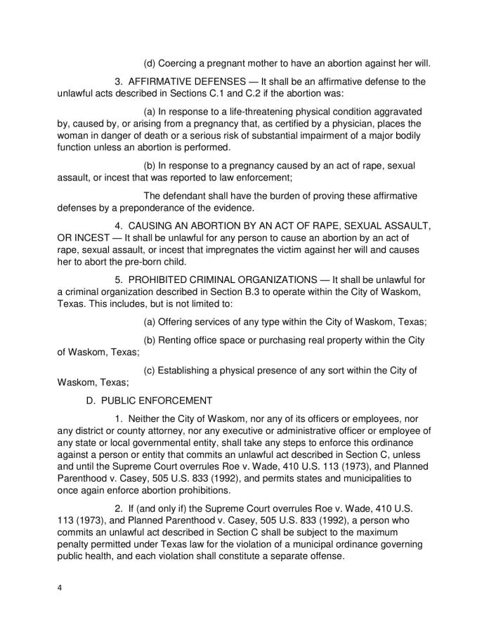 Waskom Texas Sanctuary for the Unborn Ordinance-pg4