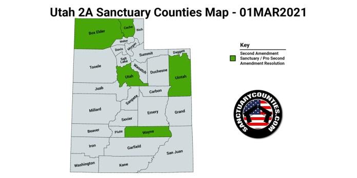 Utah Second Amendment Sanctuary State Map