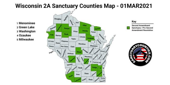 Wisconsin Second Amendment Sanctuary State Map