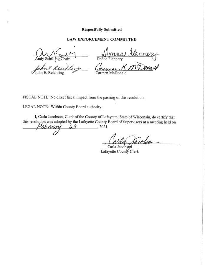Lafayette County Second Amendment Sanctuary Resolution PG - 3