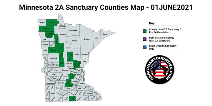 Minnesota Second Amendment Sanctuary Updated Map June 01 2021