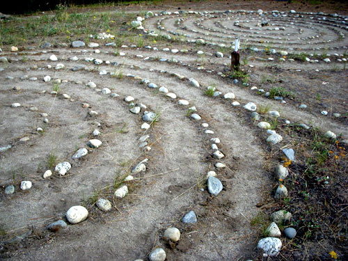 labyrinth in the Cascade Mountains, Washington State Grunewald guild retreat