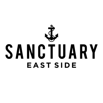 Sanctuary East Side Lockup Black-Trans