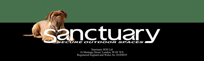 Dog fencing company logo - Sanctuary SOS Ltd
