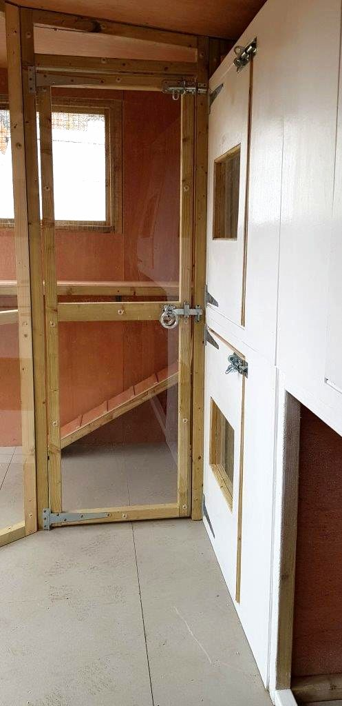 Bedrooms in cattery made by Sanctuary SOS Ltd