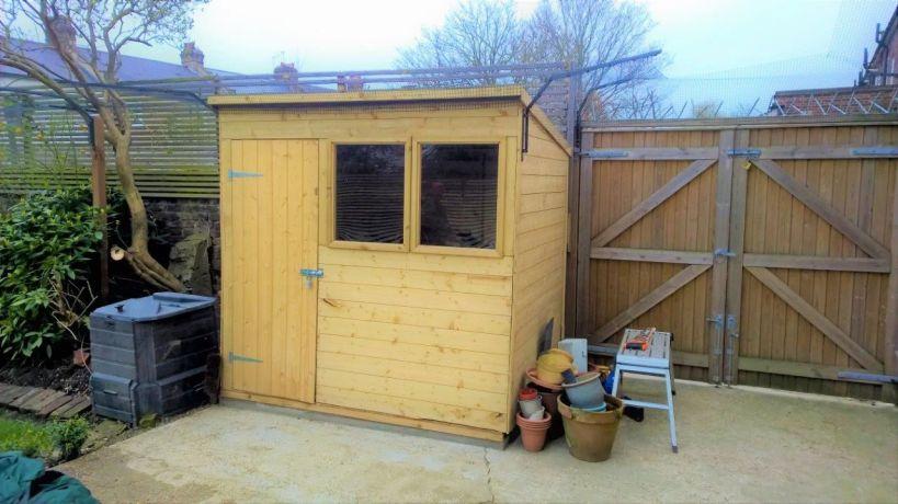 cat mesh around shed