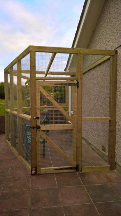 Catio enclosure for garden