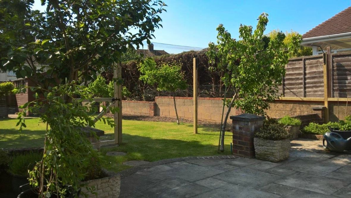 Freestanding cat fence