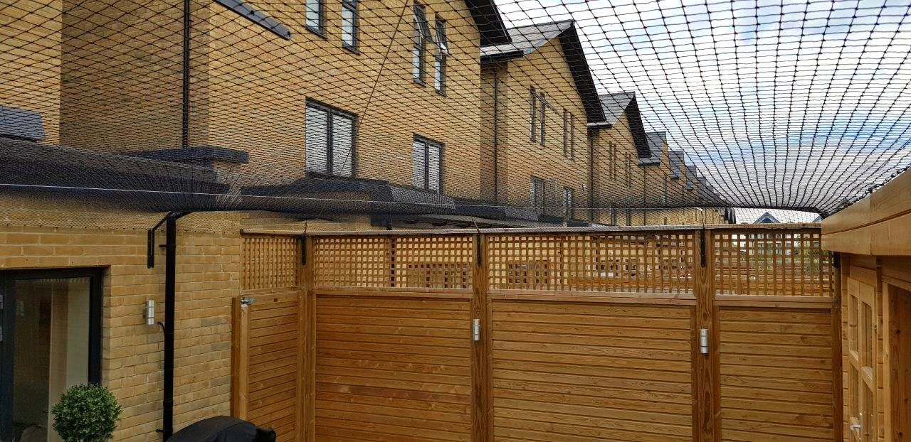 Mesh canopy to turn London garden into catio