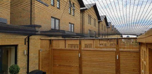 Mesh canopy to turn London garden into catio