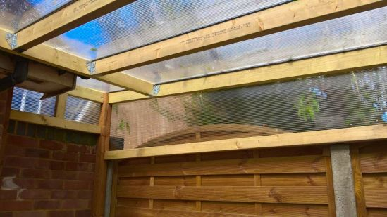 Outdoor Cat Run UK Polycarbonate roof enclosure to keep cats safe