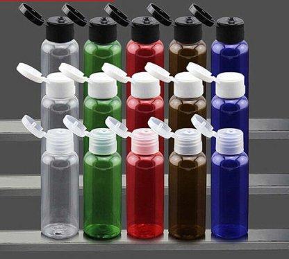 Plastic Bottle-Clear PET-30mls-press cap