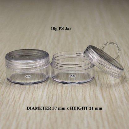 Plastic Jar Clear-20pcs-10gm-Screw Cap
