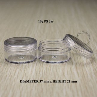 Plastic Jar Clear-20pcs-10gm-Screw Cap