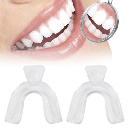 2 Pcs/1 Pair Professional Dental Mouthguard Teeth Whitening Trays Adults Bleaching Tooth Whitener