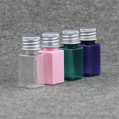 10ml Small Cosmetic Water Square Bottle Makeup Essential Oil Perfume Refillable-50 Pieces-Blue