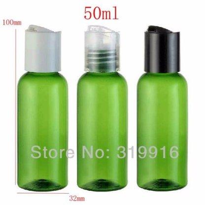 Plastic Bottle-PET Plastic-Green-Boston Round10x50mls