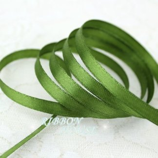 12 yards/roll ) 1/4″ (6mm) Olive Green Single Face Satin Ribbon Webbing Decoration Gift Christmas
