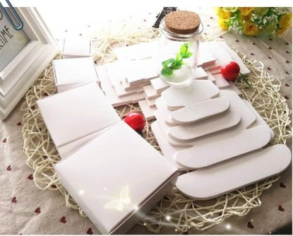 White/Kraft box for packaging 25pcs/lot – handmade soap paper boxes/candy gift box-75x75x30