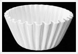 White Filter Paper for Coffee Machine-Brewer Espresso Maker Dripper-25cmx50-Paper Flowers