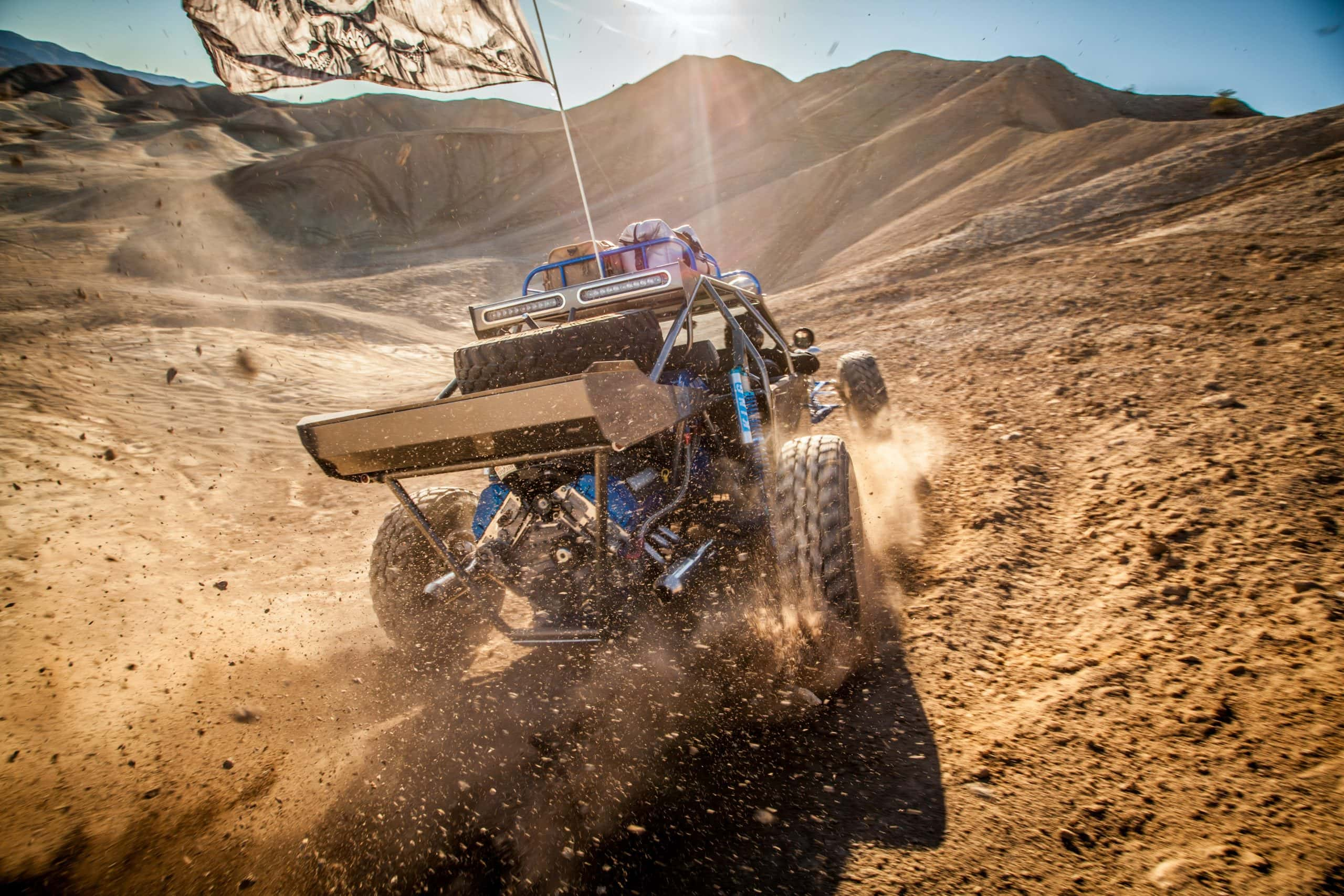 Sand duning and off-roading in the desert