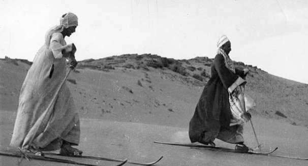 Sandboarding History - Egyptians skiing on sand in 1939s