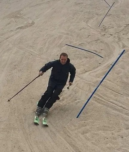Sandskiing in Monte Kaolino