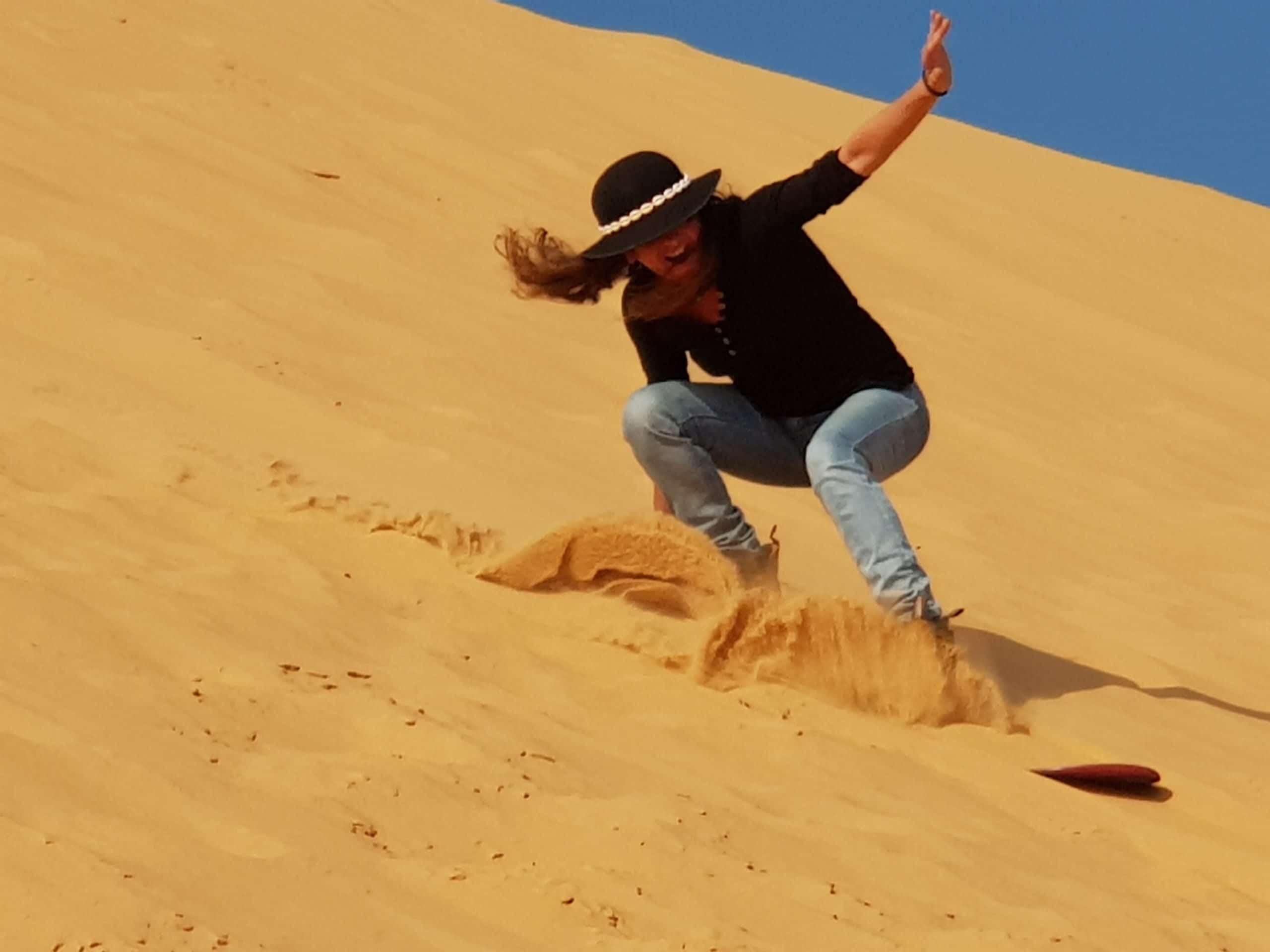 Sandboarding in Israel