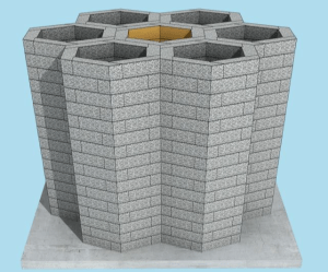 Combination of Water Dungeon Filter well block
