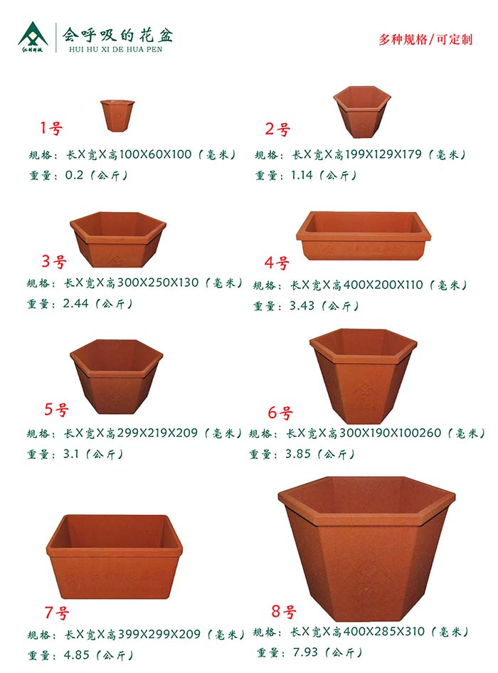 Breathable Pots with shape and sizes