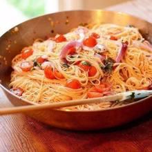 Паста с томатами, базиликом и чесноком рецепты
