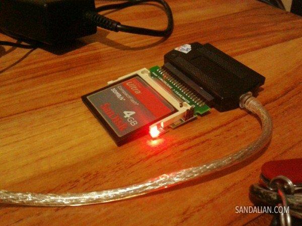 SSD-SSDan menggunakan Compact Flash