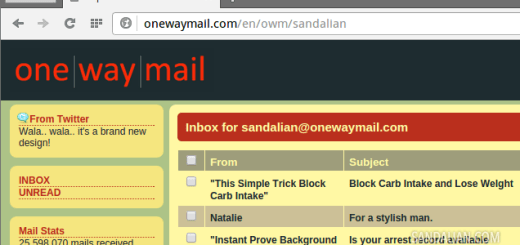 one way mail atau one direction mail