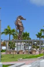 Seahorse sculpture near the OSJ port