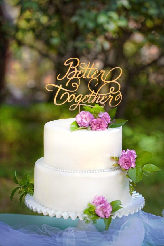 Creative Wedding Cake Toppers We Love Sandals Wedding Blog