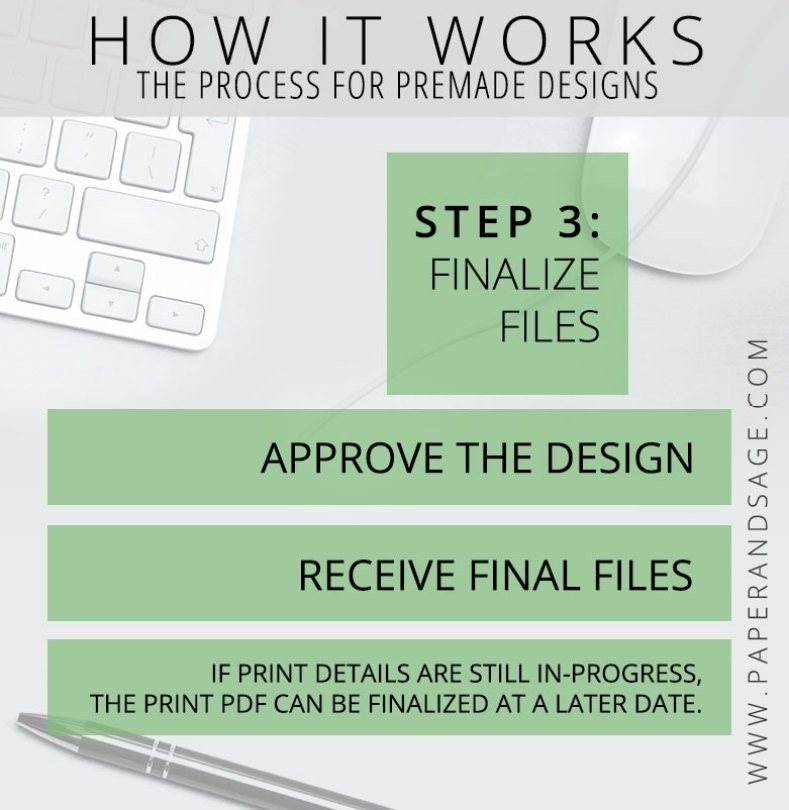 How it Works: PreMade Flowchart Step 3