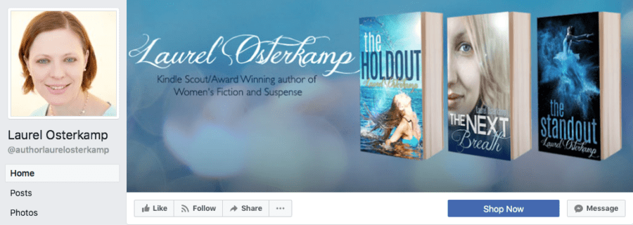 Add-On Example: Facebook Header for Laurel Osterkamp