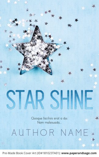 Pre-Made Book Cover ID#181023TA01 (Star Shine)