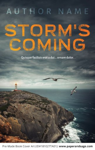 Pre-Made Book Cover ID#181027TA01 (Storm's Coming)