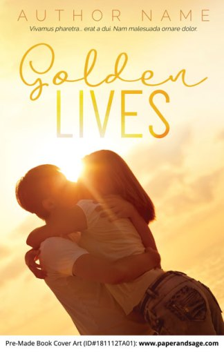 Pre-Made Book Cover ID#181112TA01 (Golden Lives)