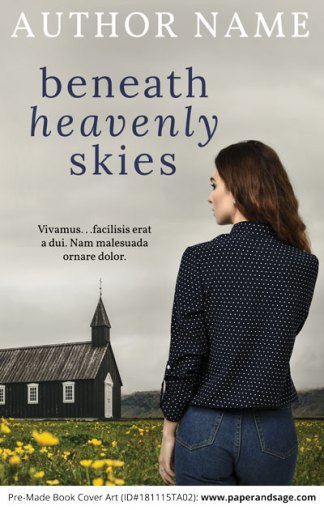 Pre-Made Book Cover ID#181115TA02 (Beneath Heavenly Skies)