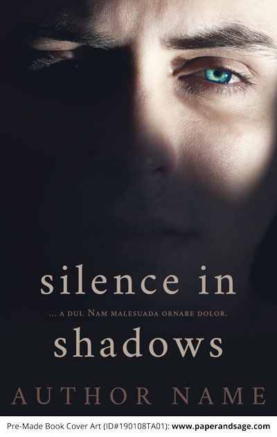 Pre-Made Book Cover ID#190108TA01 (Silence in Shadows)